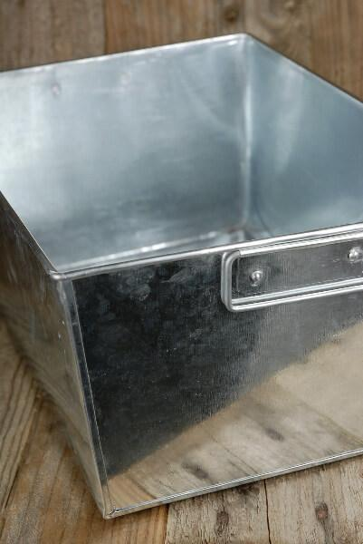 Galvanized  Rectangle Tub with 2  Handles 14x10 with Liner