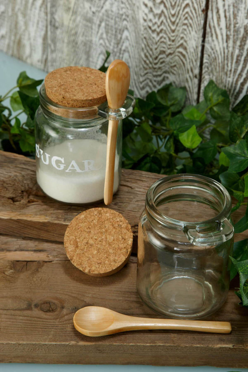 glass jar with wooden spoon 4 8 5oz