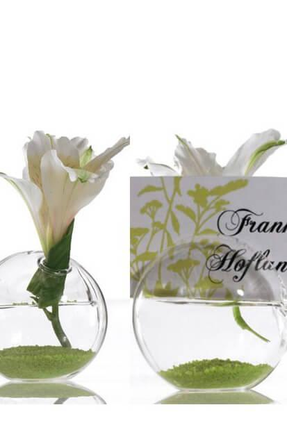 8 blossom glass name card holders 2 5