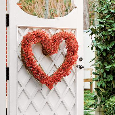 handmade grapevine 14 heart wreath