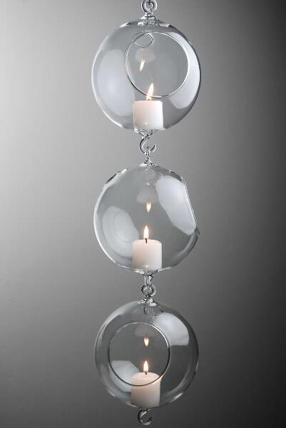 Hanging Glass Terrarium with Two Hooks 5in