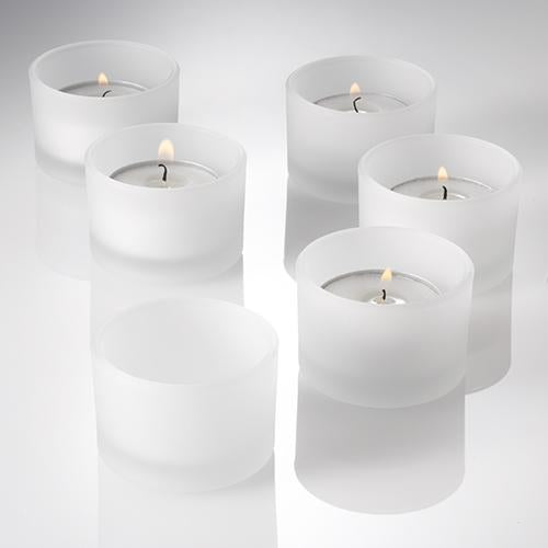 Eastland Tealight Candle Holder Frosted Set of 12