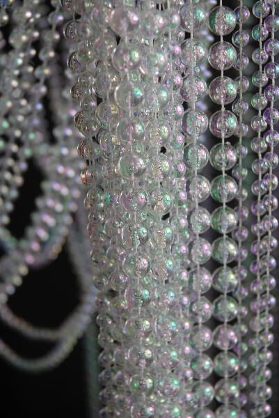 "Iridescent Crystal Beaded Curtains 35"" x 6ft"