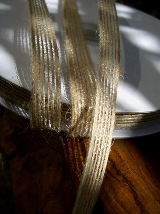 Natural Jute Ribbon 3/8in x 25 yds