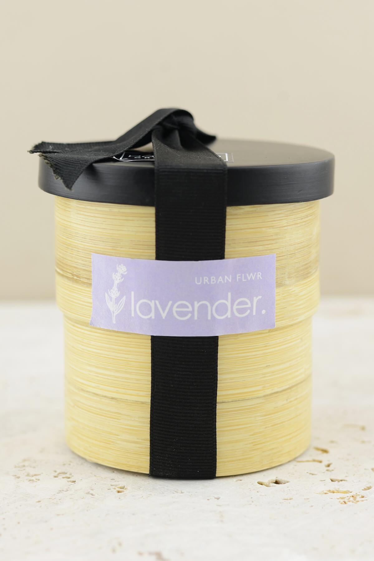 lavender grow kit in bamboo pot