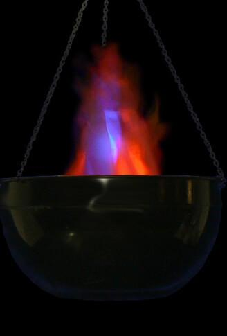 Cauldron Flame Light LED Battery Operated Simulated Fire Burning Cauldron