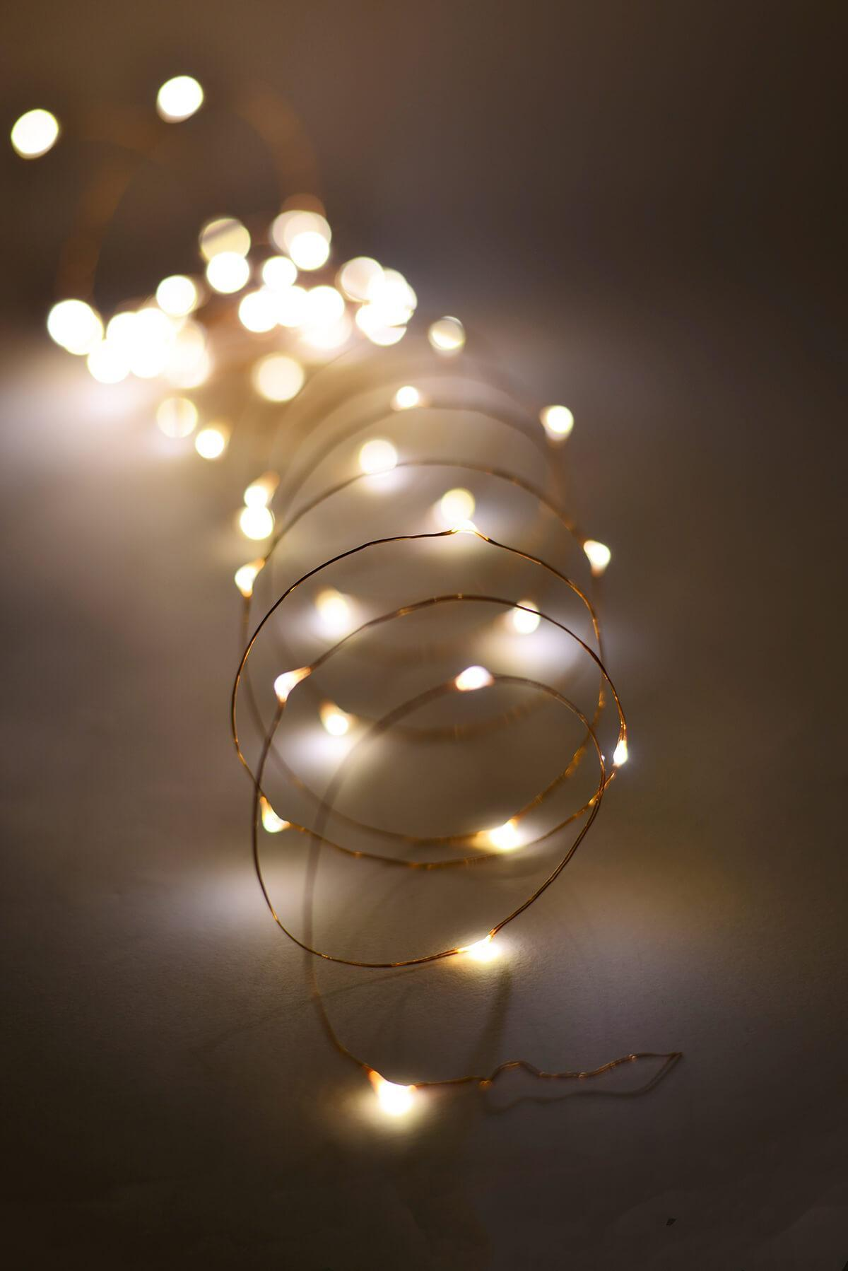outdoor fairy lights 20 ft battery op 60 warm white led light strings copper wire