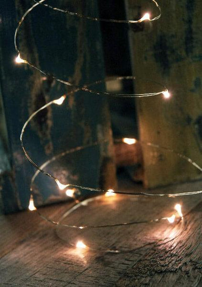 led fairy lights timer 10 foot silver wire 30 leds warm white