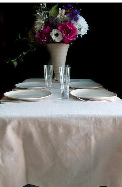 linen fabric table cloth 54 x 54 hemmed
