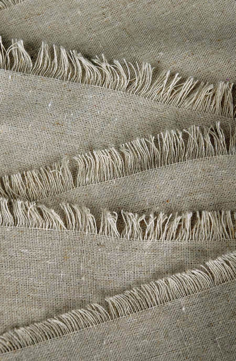 fringed edge linen table runner 12 5in x 120in