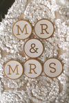 fancy gold foil mr mrs medallions round 2 5 extra s
