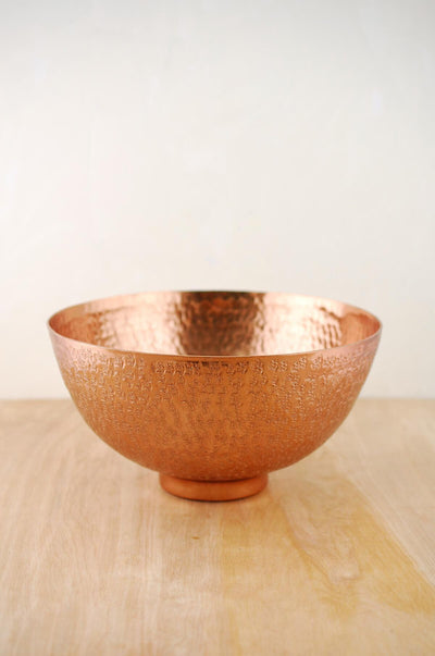 metal bowl copper 10 4x5 5in