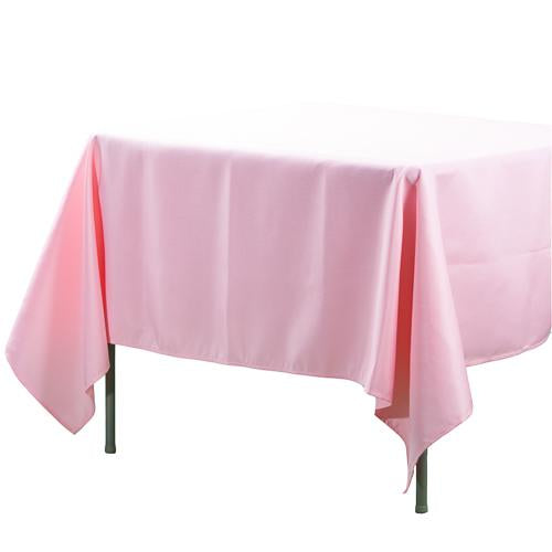 "Richland Square Tablecloth 70""x70"" Pink"