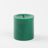richland pillar candles 3 x3 dark green set of 48