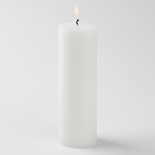 "Richland Pillar Candle 2""x6"" White Set of 40"