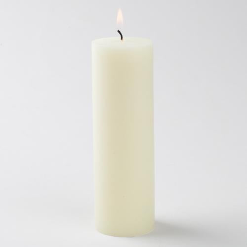 ivory pillar candle 2x6 6023 10