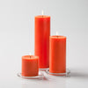 "Richland Pillar Candles 3""x3"", 3""x6"" & 3""x9"" Orange Set of 3"