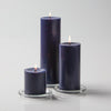 "Richland Pillar Candles 3""x3"", 3""x6"" & 3""x9"" Navy Blue Set of 3"