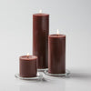 "Richland Pillar Candles 3""x3"", 3""x6"" & 3""x9"" Brown Set of 12"