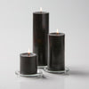 "Richland Pillar Candles 3""x3"", 3""x6"" & 3""x9"" Black Set of 18"