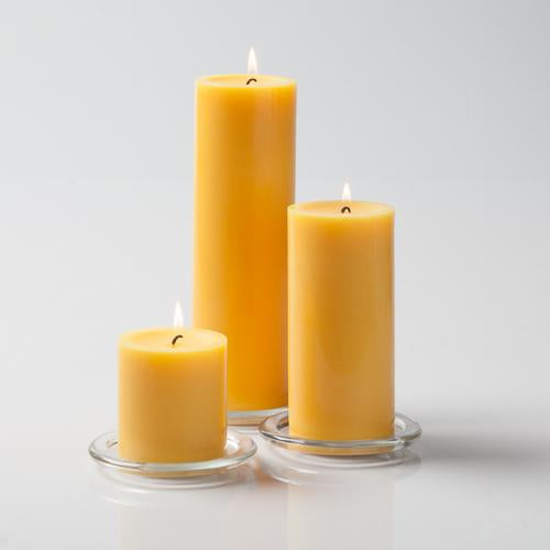 "Richland Pillar Candles 3""x3"", 3""x6"" & 3""x9"" Yellow Set of 3"