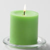 "Richland Pillar Candles 3""x3"" Green Set of 48"