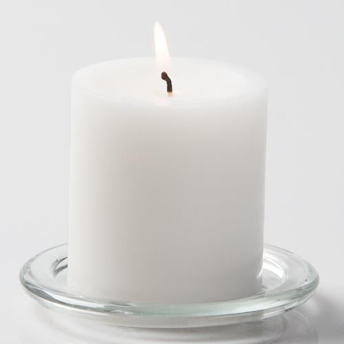 "Richland Pillar Candles 3""x3"" White Set of 24"