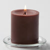 "Richland Pillar Candle 3""x3"" Brown"