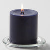 "Richland Pillar Candles 3""x3"" Navy Blue Set of 48"