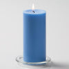 "Richland Pillar Candles 3""x6"" Light Blue Set of 6"