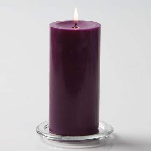 "Richland Pillar Candles 3""x6"" Purple Set of 6"