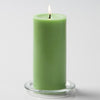 "Richland Pillar Candles 3""x6"" Green Set of 24"