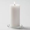 "Richland Pillar Candles 3""x6"" White Set of 24"