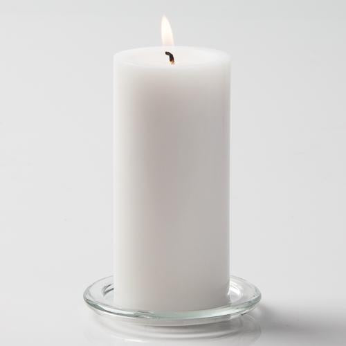 "Richland Pillar Candles 3""x6"" White Set of 6"