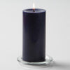 "Richland Pillar Candle 3""x6"" Navy Blue"