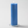 "Richland Pillar Candles 3""x9"" Light Blue Set of 12"