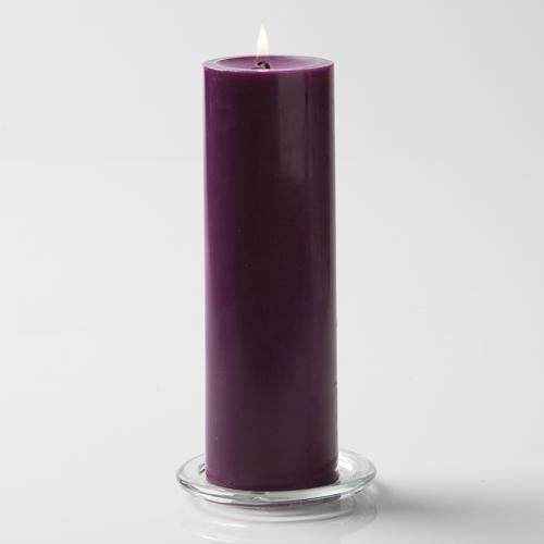 "Richland Pillar Candles 3""x9"" Purple Set of 6"