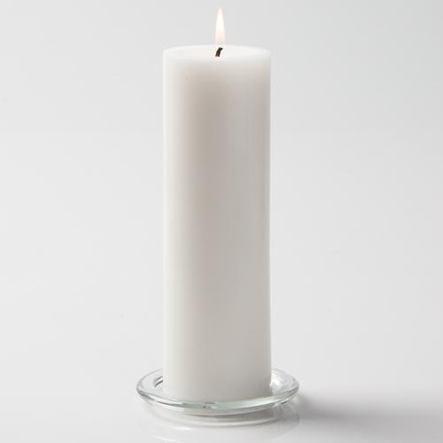"Richland Pillar Candles 3""x9"" White Set of 6"