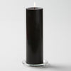 "Richland Pillar Candles 3""x9"" Black Set of 6"