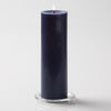 "Richland Pillar Candles 3""x9"" Navy Blue Set of 24"