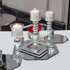 Eastland Silver Mercury Glass Pillar Candle Holder with Clear Glass 12""