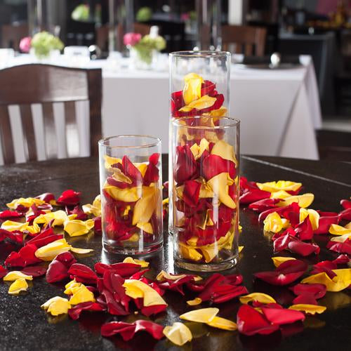 silk rose petals yellow 7083 1000