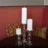Eastland Unique Mercury Glass Pillar Candle Holder 6.5""