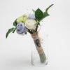 Richland Blue, Green, and White Rose Bunch 12""