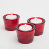 richland multi use tealight and taper holder red set of 12