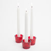 Richland Multi-Use Tealight and Taper Holder Red Set of 12