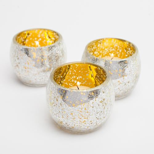 richland gold crackled hurricane holder set of 12