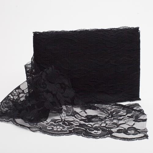 richland 5 x10yd nylon floral lace ribbon black
