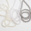 richland 8mm resin pearl strand silver 1yd