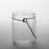 "Eastland 5.1"" Hanging Dotted Glass Jar with Handle Set of 6"
